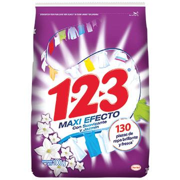 DETERGENTE 123 EXTRA S Y JAZMIN 1000 GR