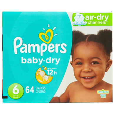 PAMPERS BABY DRY SUPER 6  66 UND