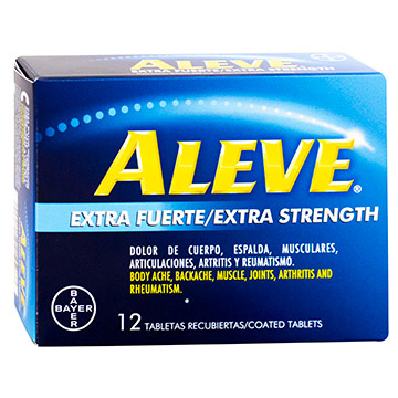 ALEVE EXTRA FUERTE 12 TABLETAS