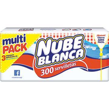 SERVILLETA NUBE BLANCA DE PAPEL 300UND