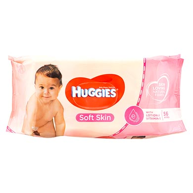 Toalla humedas Huggies soft skin 56 unidades