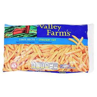 Papas fritas Valley Far corte recto 1000 g