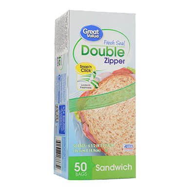 BOLSA GREAT VALUE PARA SANDWICH 50U