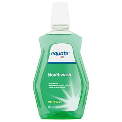 Enjuague bucal Equate mint fresh 1500 ml