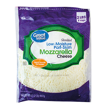 QUESO GREAT VALUE MOZZARE RALLADO 907GR