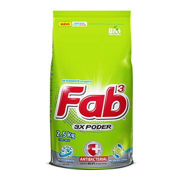 DETERGENTE FAB3 MI MEDIO LIMON 2.5KG