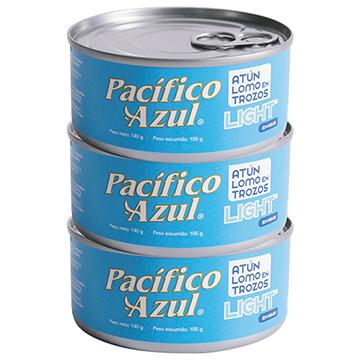 ATUN AGUA PACIFICO AZUL 3PK 420 GR