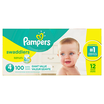 PANAL PAMPERS SWADDLERS S4 GIANT 100EA