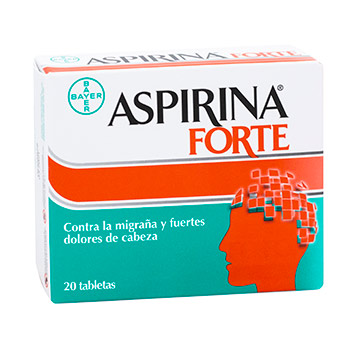PASTILLA ASPIRINA FORTE 20 TABLETAS
