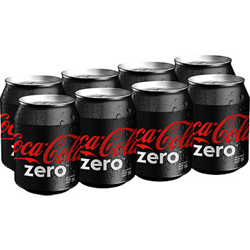 GASEOSA COCA COLA ZER MINI LAT 8P 1896ML