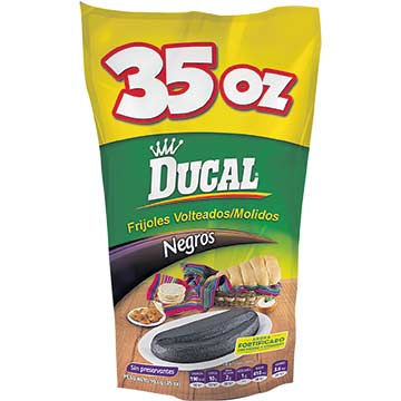 FRIJOL DUCAL MOLIDO NEGRO DOY PACK 993GR