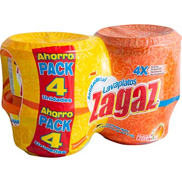 LAVPLATOS ZAGAZ PEACH Y LIMONCELLO 4PK