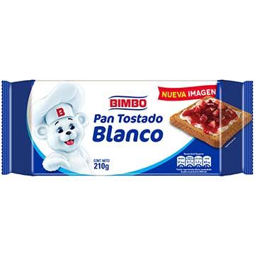 PAN BIMBO TOSTADO BLANCO 210G