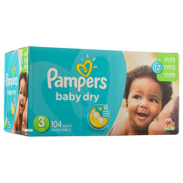 PANAL PAMPERS BABY DRY T3 PACK 104 EA