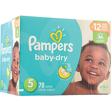 PANALES PAMPERS BABY DRY SUPER 5 78 UNID