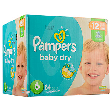 PANAL PAMPERS BABY DRY T6 PACK 64EA
