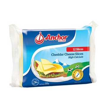 QUESO ANCHOR RODAJAS LIGHT 200G 12R