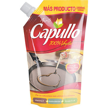 ACEITE CAPULLO VEGETAL DOY PACK 1000 ML