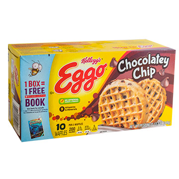 WAFFLE CHOCOLATE CHIP EGGO 348 6GR