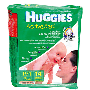 PANAL HUGGIES ACTIVE SEC REGULAR P 14U