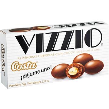 CHOCOLATE COSTA VIZZIO CON ALMENDRAS 72G