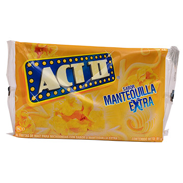 POPOROPO ACT II EXTRA MANTEQUILLA 91 GR