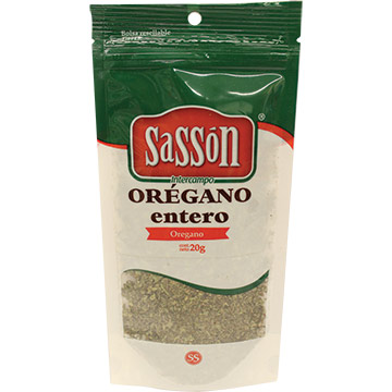 ESPECIA SASSON OREGANO ENTERO 20 GR