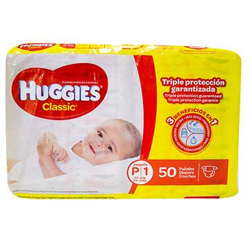 PANAL HUGGIES CLASSI MEGA TALLA P 50U