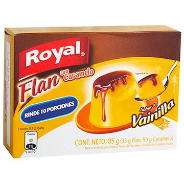 FLAN ROYAL VAINILLA MAS CARAMELO 85GR