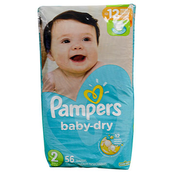 PANAL PAMPERS BABY DRY T2  56 UND