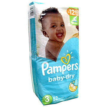 PANAL PAMPERS BABY DRY S3 52EA