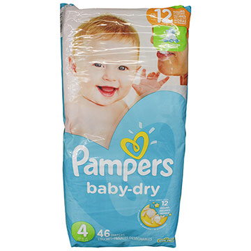 PANAL PAMPERS BABY DRY S4 46 U