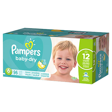 PANALES PAMPERS BABY DRY S696