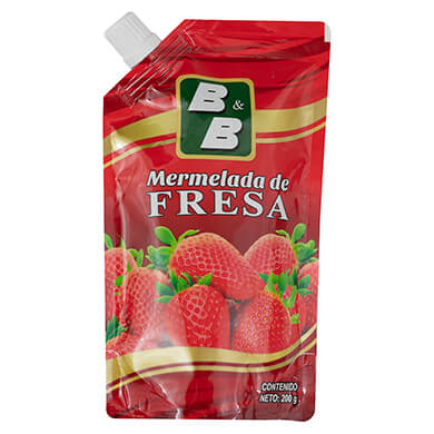 MERMELADA BYB DE FRESA DOY PACK 200GR