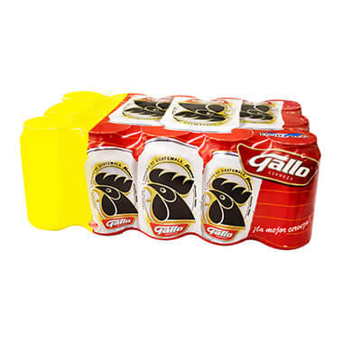12 PACK GALLO CERVEZA LATA 350ML NORMAL