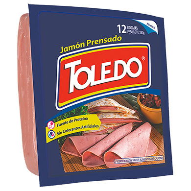 JAMON TOLEDO PRENSADO POPULAR  8 ONZ