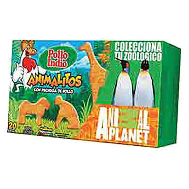 ANIMALITOS POLLO INDIO CAJA POLLO 380GR