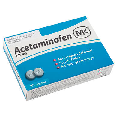 ACETAMINOFEN MK  500 MG 20 TABLETAS