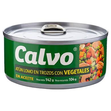 ATUN CALVO TROZOS CON VEGETALES 104GR