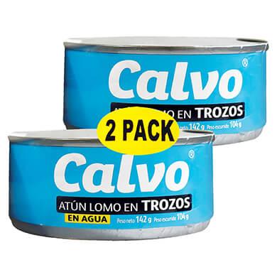 ATUN CALVO EN AGUA 2PK 284GR