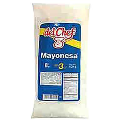MAYONESA DEL CHEFF POUCH 400GR