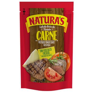 NATURAS SALSA TOMATE CARNE 210GR