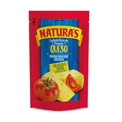 SALSA NATURAS DE TOMATE CON QUESO 106GR