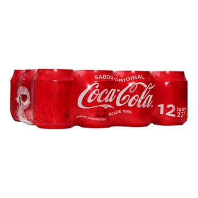 GASEOSA COCA COLA MINI LATA 12 PK 2844ML
