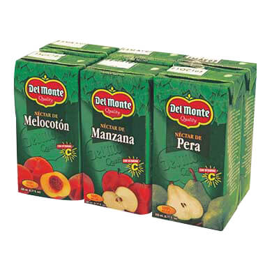 NECTAR DEL MONTE SIX PACK SURTIDO 200 ML