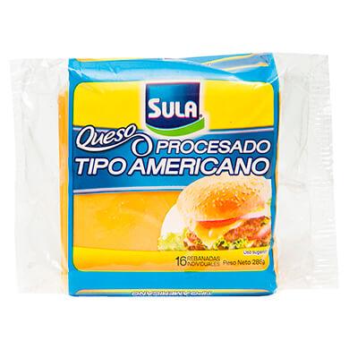 QUESO SULA PROCES TIPO AMERICANO EN RODAJA 288GR