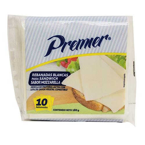Queso blanco Premier mozarella 180 g