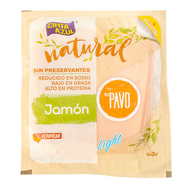 JAMON DE PAVO NATURAL CINTA AZUL 250GR