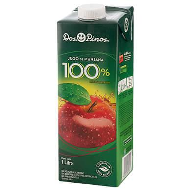 JUGO DOS PINOS 100 MANZANA TETRA 1000ML