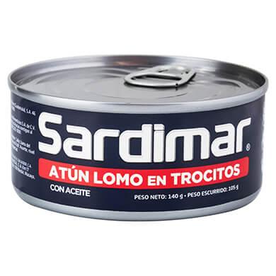 ATUN SARDIMAR LOMO EN TROCITOS 140GR